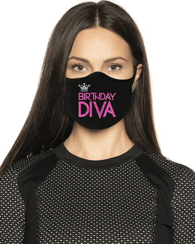 Birthday Diva Glitter Face Mask