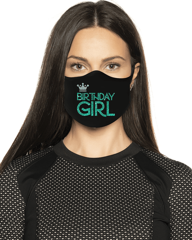 Birthday Girl Glitter Face Mask