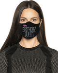 Birthday Queen II Rhinestone Face Mask