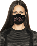 Personalized Birthday Squad Face Mask with Age