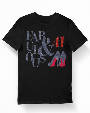 Fabulous and 41 Birthday T-Shirt