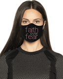 Faith over Fear Rhinestone Face Mask
