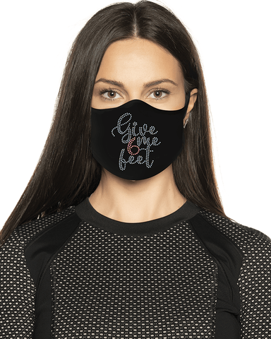 Give Me Six Feet Rhinestone Face Mask