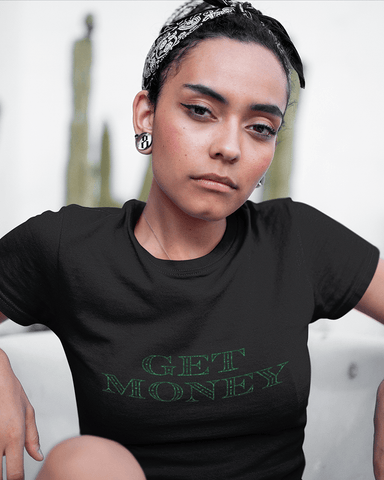 Get Money T-Shirt in Black Onyx