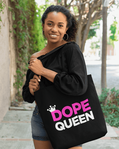One Dope Queen Large Zip Tote Bag