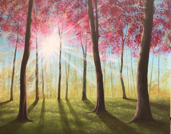 "John Kenward Original Painting 24"" x 30""  ""Morning Rays"""