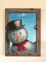 "John Kenward Original Painting 18"" x 24"" ""A Friendly Hello"""