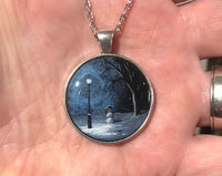 "John Kenward Original Hand Painted ""Winter Memories"" Pendant"
