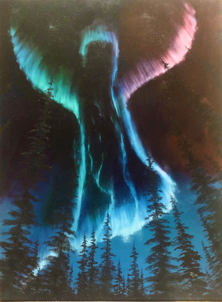 "John Kenward Original Oil Painting ""Heavenly Aurora"" 30"" x 40"""