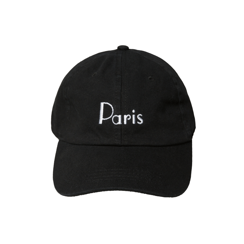 Black Paris Dad Hat