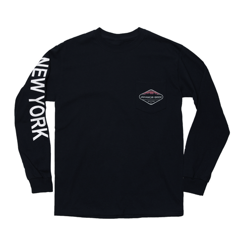 Black Sky-Line Long Sleeve Pocket Tee
