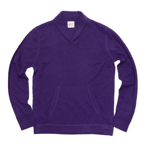 The Cashmere Shawl Collar Pullover - Imperial