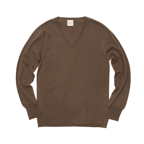 The Cashmere V Neck - Morel