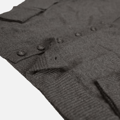 The Classic Cashmere Cardigan - Carbon Heather