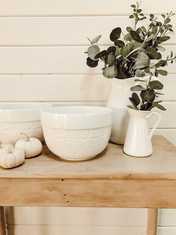 Floral Ceramic Mixing Bowl - House + Holm