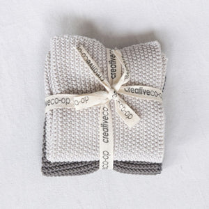 Cotton Knit Dish Cloths, Set of 2