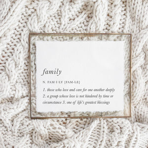 5x7 Family Definition Calligraphy Print (frame not included)