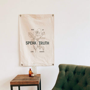 Speak Truth Canvas Banner