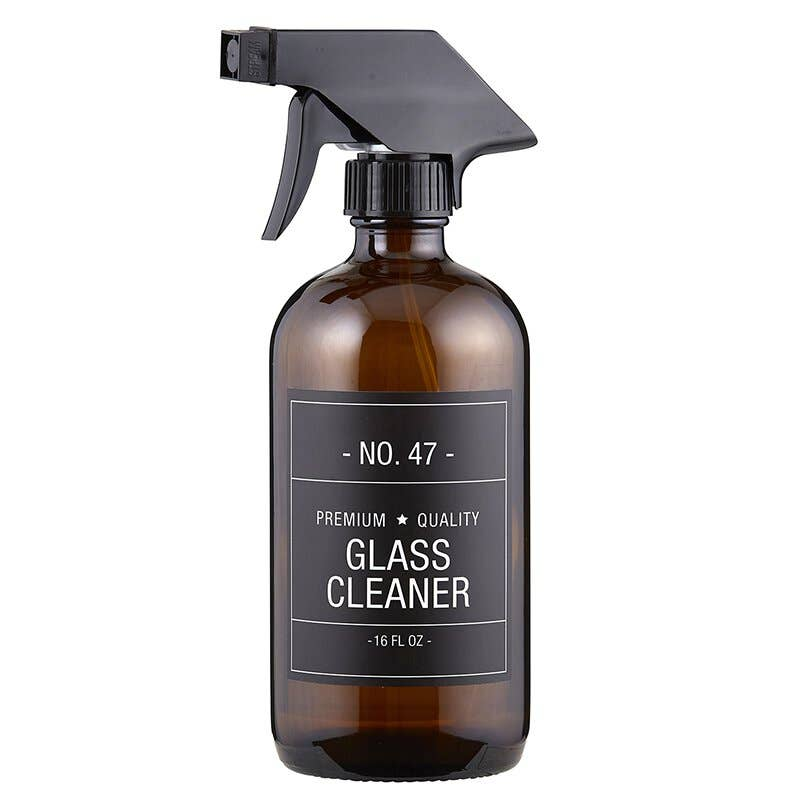 Glass Cleaner Bottle - Amber Glass