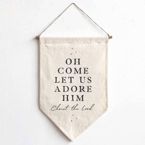 Let Us Adore Him Canvas Banner