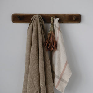 Reclaimed Wood Rolling Pin Wall Hook with 5 Hooks