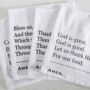 Simple Blessings Crinkle Cotton Napkins - Set of 4