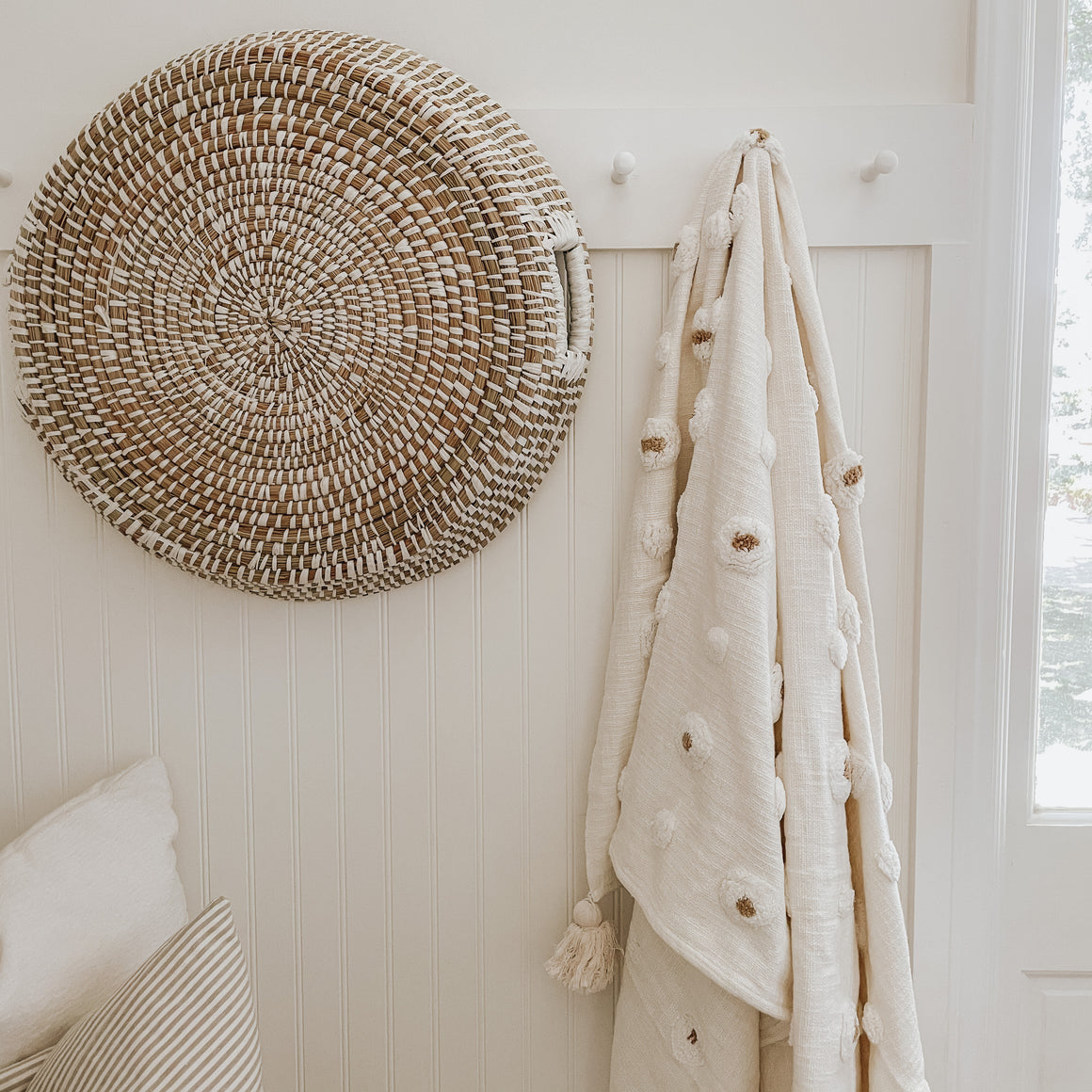 Cotton Tufted Throw with Tassels