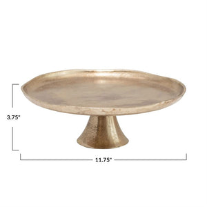 Pedestal with Antique Gold Finish