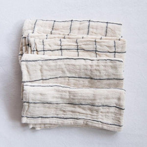 Natural Square Woven Cotton Napkins - Set of 4