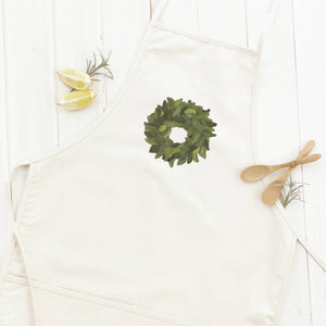 Magnolia Wreath Apron