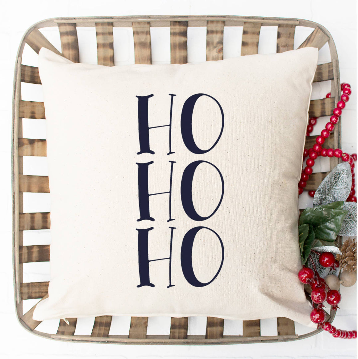 Ho Ho Ho Pillow Cover