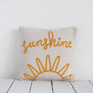 Sunshine Woven Cotton Pillow