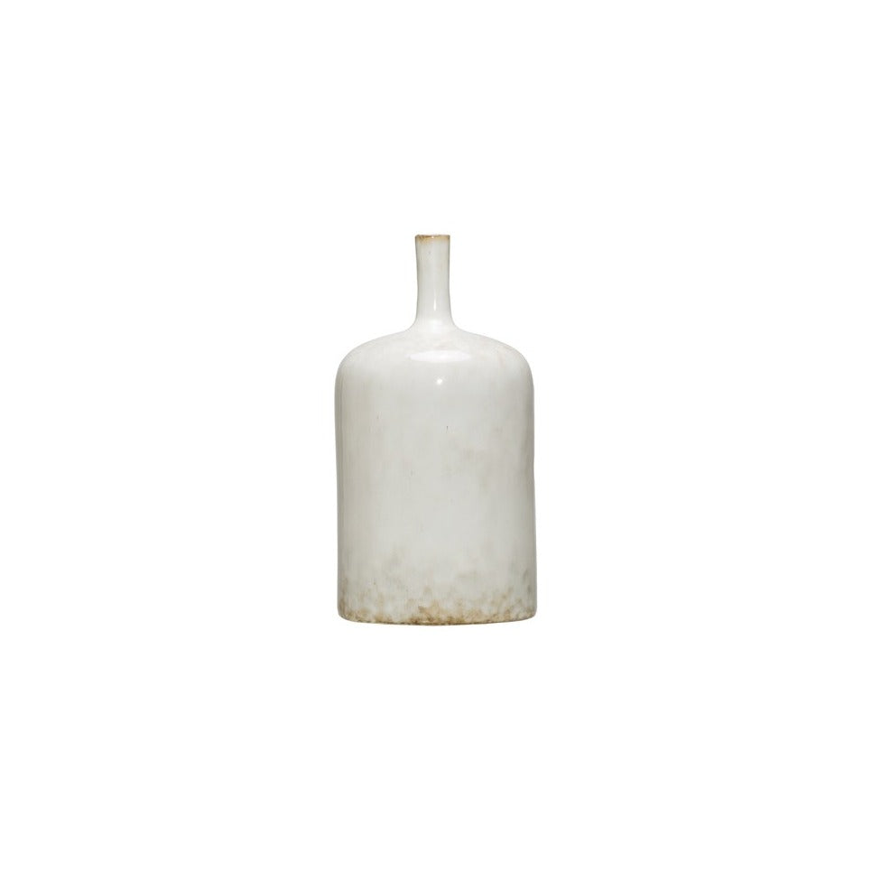 "Stoneware Vase with Reactive Glaze - 9-1/2""H"