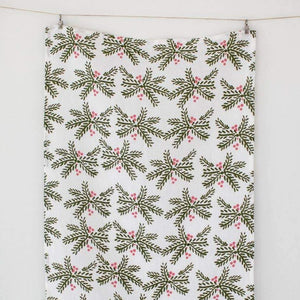 Holly Berry Tea Towel