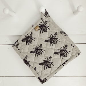 Olive Green Honey Bee Potholder