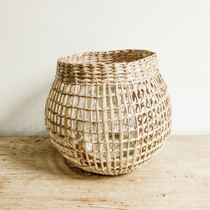 Natural Seagrass Lantern - Small