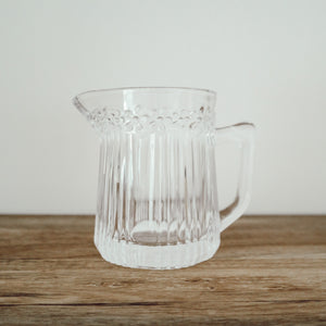 Pressed Glass Creamer Pitcher