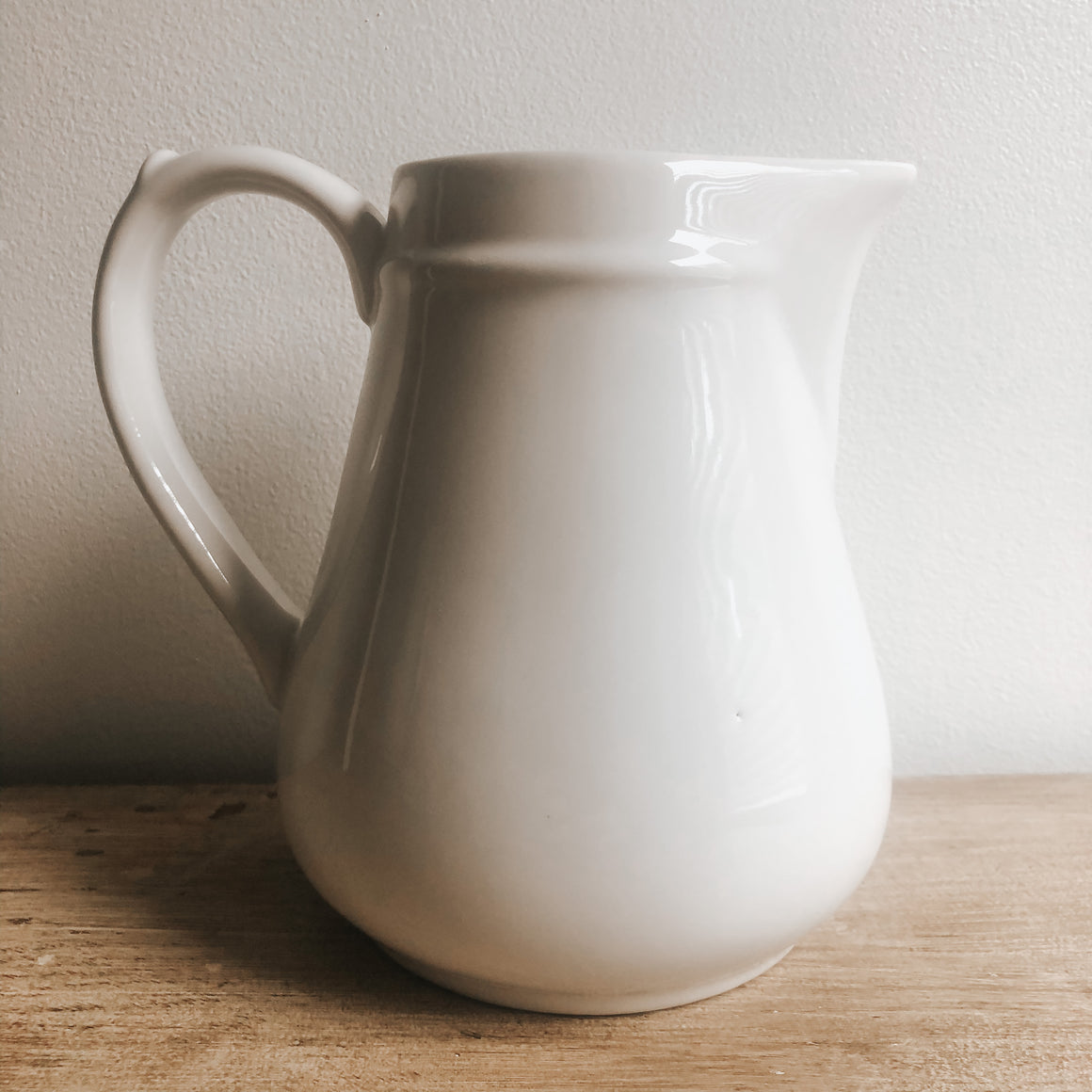 Almost Perfect Vintage Stoneware Pitcher - Medium