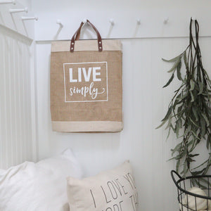Live Simply Market Tote