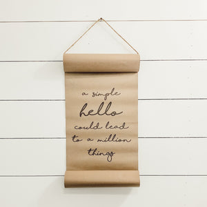 A Simple Hello Scroll
