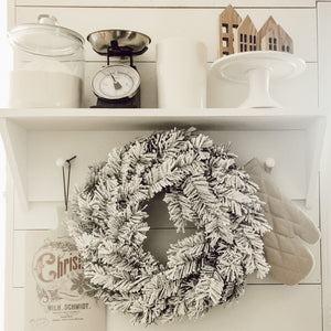 Snow Flocked Wreath