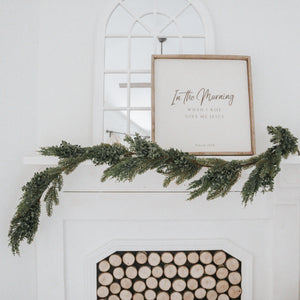 Faux Boxwood + Pine Garland