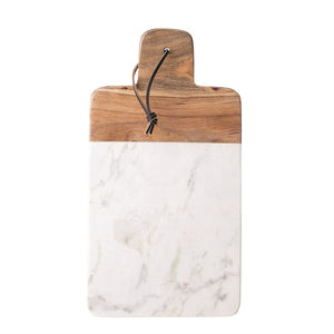Marble and Mango Wood Cutting Board