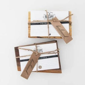 Recipe Cards + Wooden Recipe Card Holder