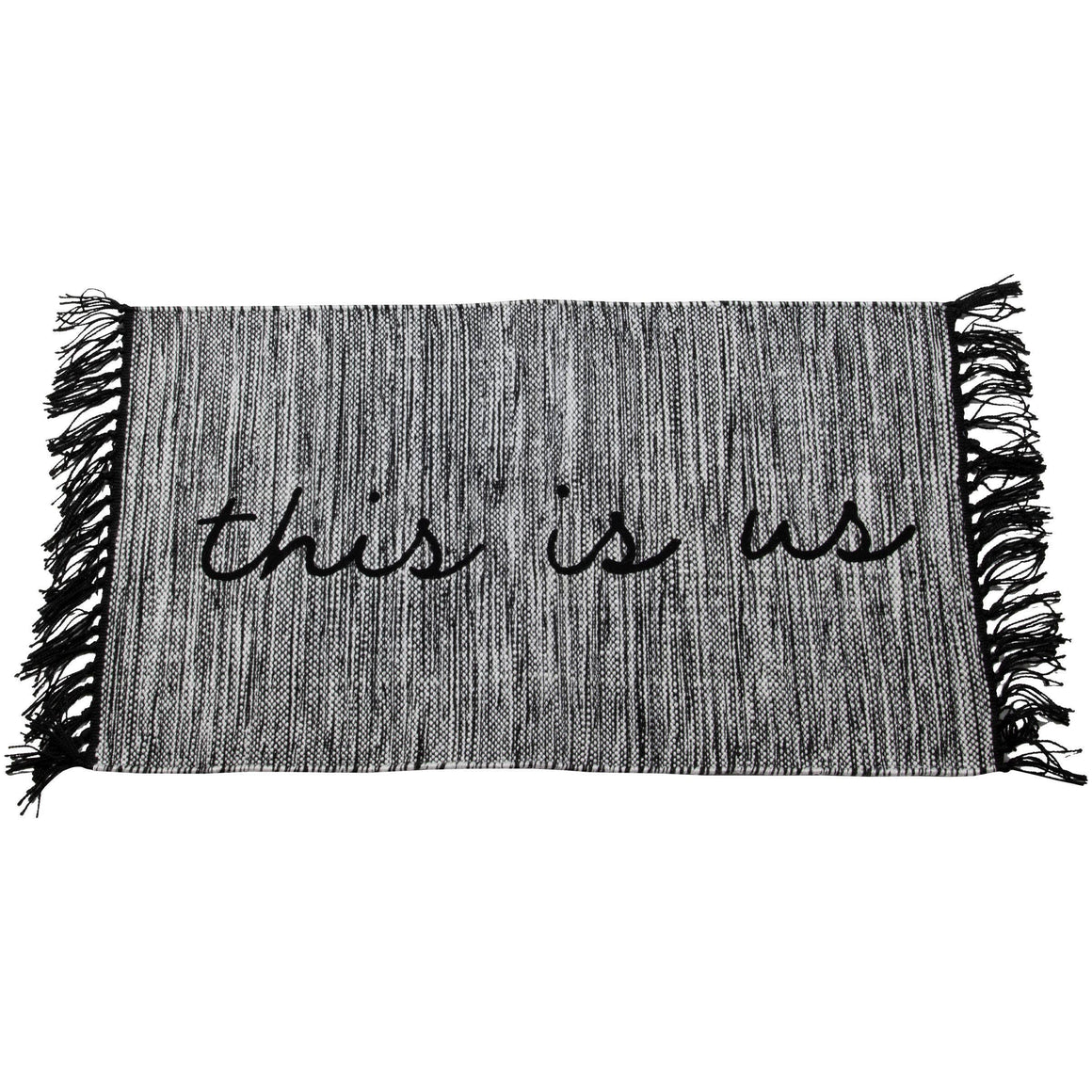 Hand Woven Outdoor This is Us Rug