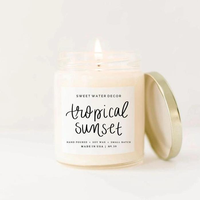 Tropical Sunset Soy Candle