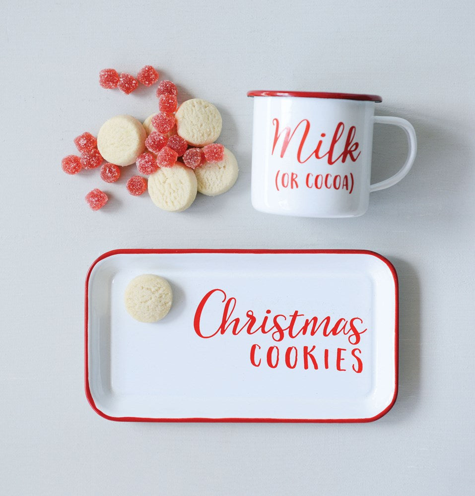 Holiday Milk + Cookies Mug and Tray Set