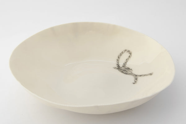 "LIMOGERIE BOWL HAND PAINTED ""LINEN KNOT"""