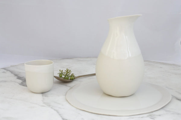 CARAFE WHITE & NATURAL