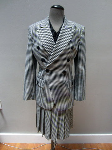 Vintage Christian Dior Houndstooth Skirt Suit, 2